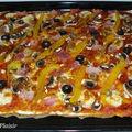 Pizza jambon, champignons & poivrons (9 pp)