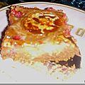 Le brownie framboises chamallows