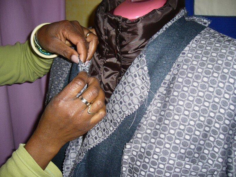 montage d'une veste