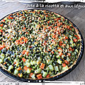 Tarte à la ricotta et aux légumes ( 337 cal/par personne)