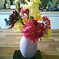dalhia, hotensia, pelargonium, iris