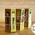 Jeu de cubes avec personnages pour enfants - téléchargement gratuit + diy