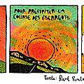 Strip poétique: texte paul poule / dessin: gaspard oeuf