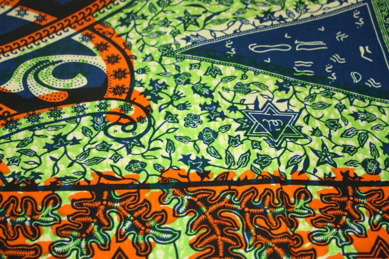 Wax arabisant vert bleu
