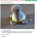 [mes ateliers - les ateliers grenadine et menthe à l'eau] une tortue amigurumi