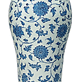 A large blue and white vase, <b>19th</b>-<b>20th</b> <b>century</b>