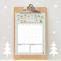 Calendriers mensuels : décembre 2015 (gratuit - à imprimer)