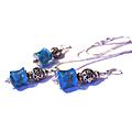 Parure femme perles en verre européennes bleues