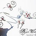 Création de bijoux mariage <b>perles</b> rose clair, rose poudré, <b>nacre</b> rose