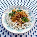 Bouchées de poulet au curry rouge thaï et ananas frais