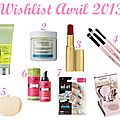 Ma wishlist d'avril...