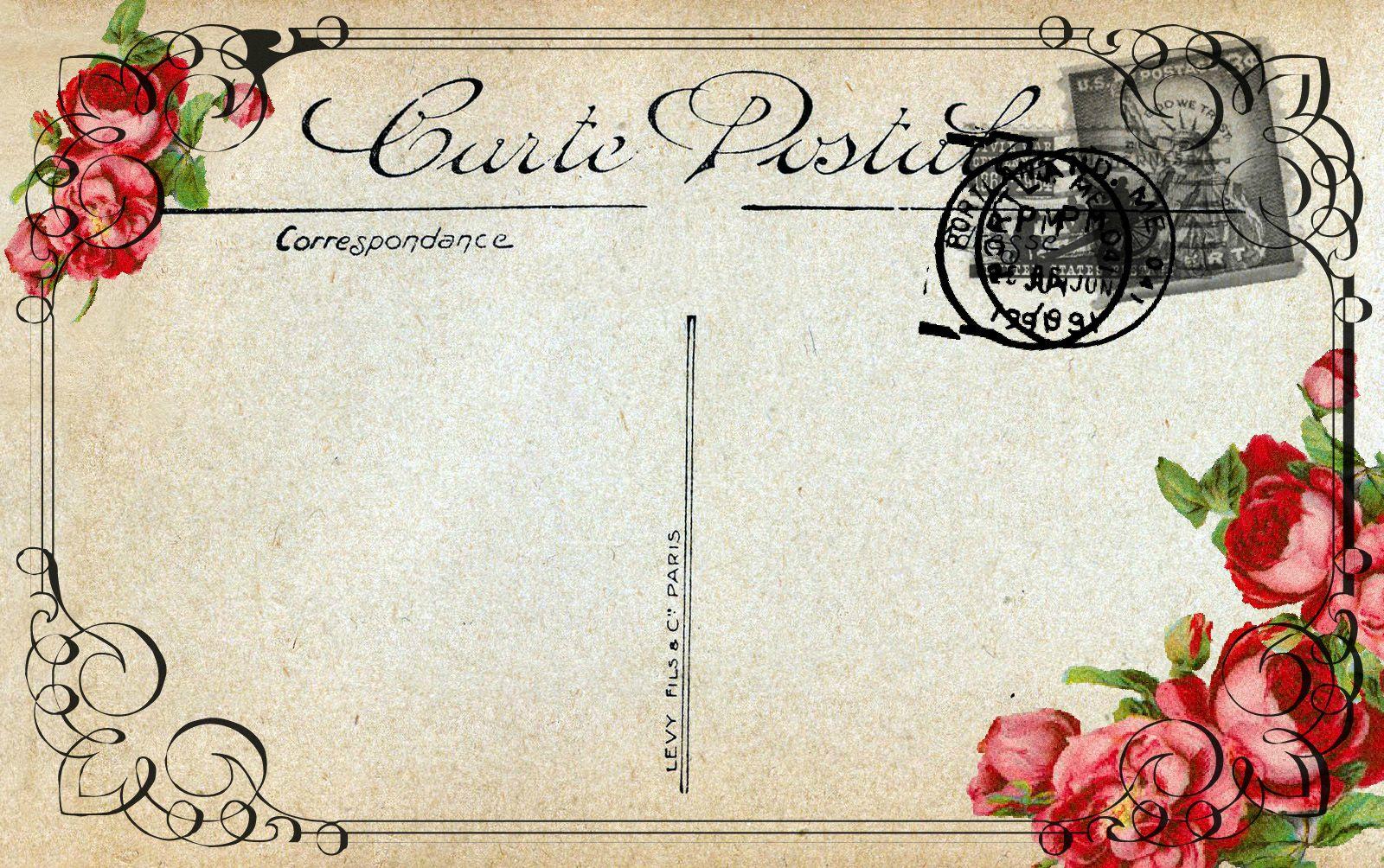 carte postale vierge