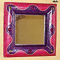 Miroir carre carton rose_violet_2