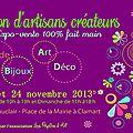 Salon des artisans créateurs le 23 et 24 novembre à clamart