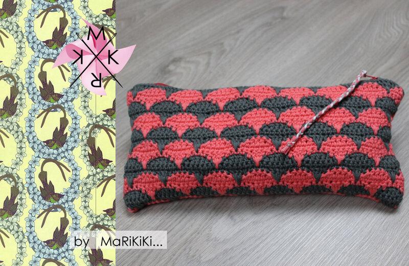 Pochette tricot au crochet 01