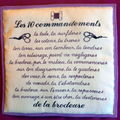 commandements de la brodeuse