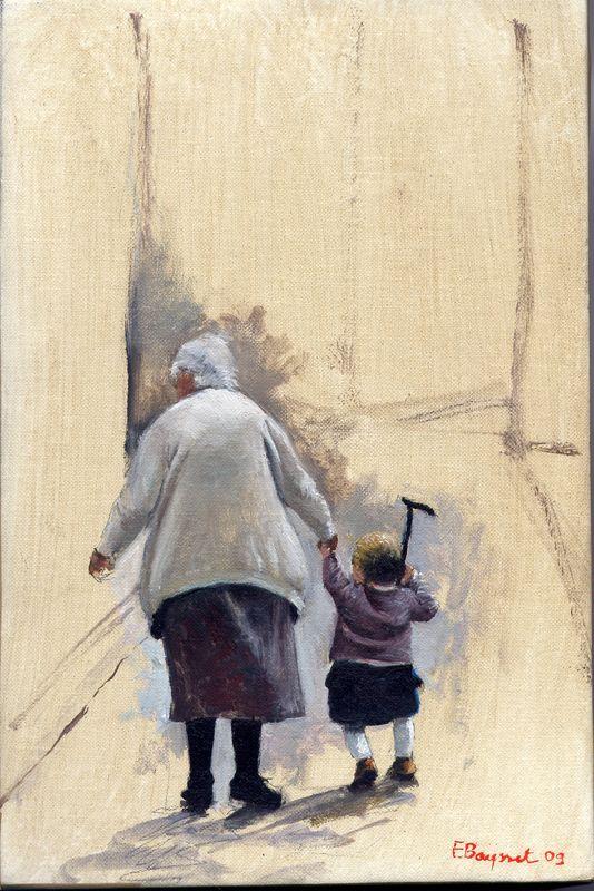 huile sur toile sans titre ( 27 x19 cm )