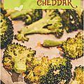 ..brocolis grillés au citron et au cheddar..