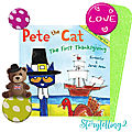 Pete the <b>cat</b> the first Thanksgiving, séquence seasons & months, cycle 3