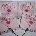 Pink Kitty cocktail Coasters