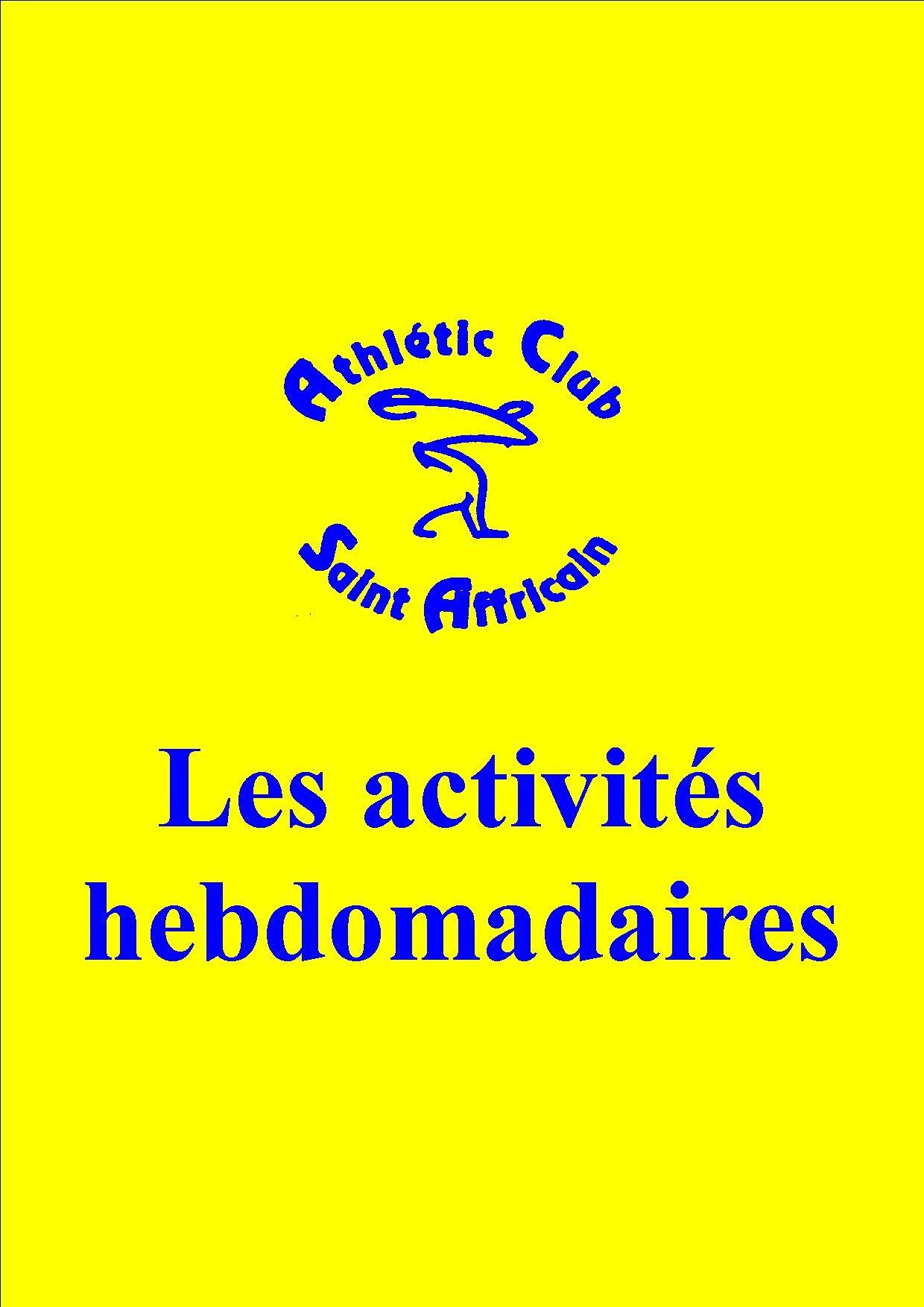 Logo club grand format activités club jaune et bleu