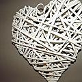 Les coeurs en osier...