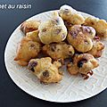 Beignet au raisin