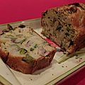 Cake aux harengs, poireaux et olives (sans gluten, sans lactose)
