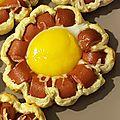 Fleurs saucisses/œufs