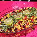 Salade mexicaine, vinaigrette citron vert