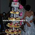 Pièce-montée cupcakes