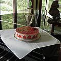 Délicieux fraisier sans gluten et sans lactose