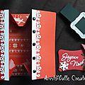 Carte pochette Noël - ouverte