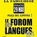 Photo - forom des langues 2011