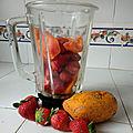 Milkshake de <b>papaye</b> aux fraises
