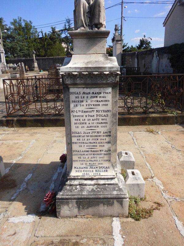 tombe de Jean et d'André Dugas à Saint-Chamond
