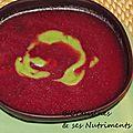 soupe betterave & avocat