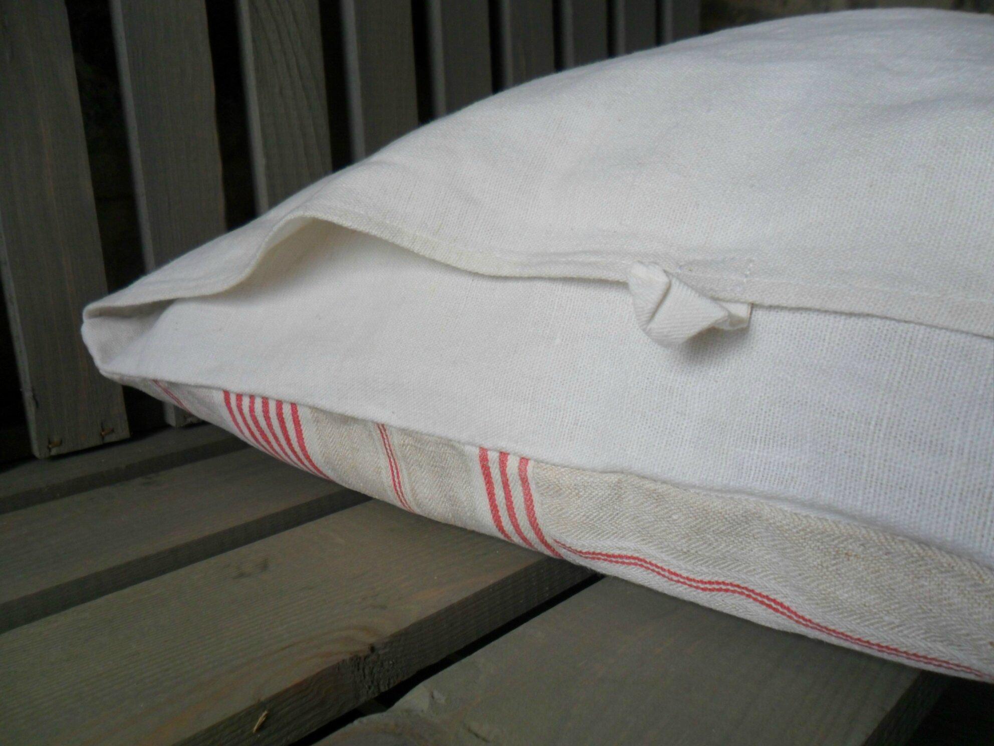 Housse de coussin en toile à matelas ancienne 42€