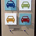 90. multicolore - 4 voitures