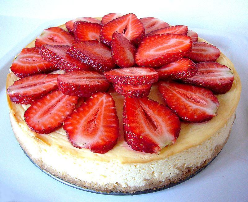 Cheesecake à la fraise