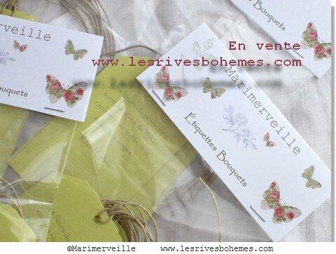 Marimerveille collection étiquettes bouquets 1