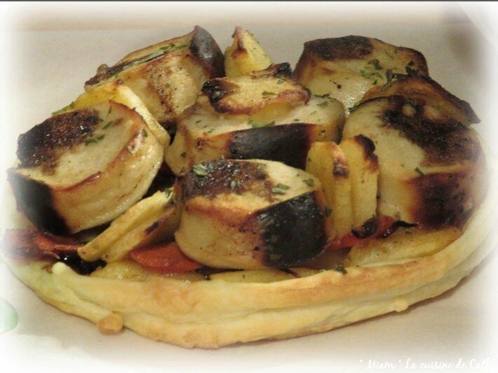 """ღ """" Miam """" Tartelette de boudin blanc aux pommes ..."""
