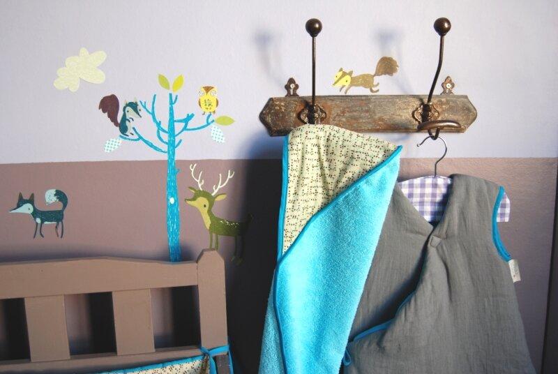 Stickers chambres d'enfants - la forêt bleue - Abigail Brown pou