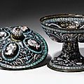 Pierre Reymond (1513-1584), French, Limoges, <b>Tazza</b> with profiles of men and women