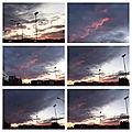 Les mois d'<b>hiver</b> - Un nouveau coucher de soleil, ce soir vers les 17 heures, au-dessus de la Ville fédérale