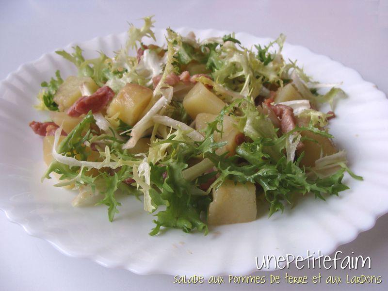 salade aux pommes de terre et aux lardons une petite faim. Black Bedroom Furniture Sets. Home Design Ideas