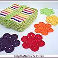Tuto dessous-de-verre fleurs au crochet