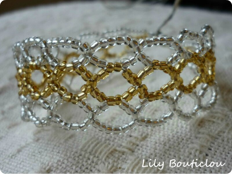 perles rocaille tissage bracelet lilybouticlou