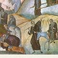 Dormition de Saint-Ephraim(détail) - METEORES (?) - GRECE