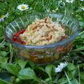 Verrines d'houmos et de salade de légumes grillés